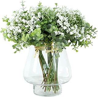 Thinkingwings 12 Pcs Artificial Baby Breath Flowers Realistic Gypsophila Bouquets for Wedding Party Home DIY Decoration