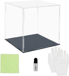 Belle Vous Set Présentoir Pot Acrylique Transparent - 20 x 20 x 20 cm - Grande Boite Plexi Anti-Poussière pour Protection ...