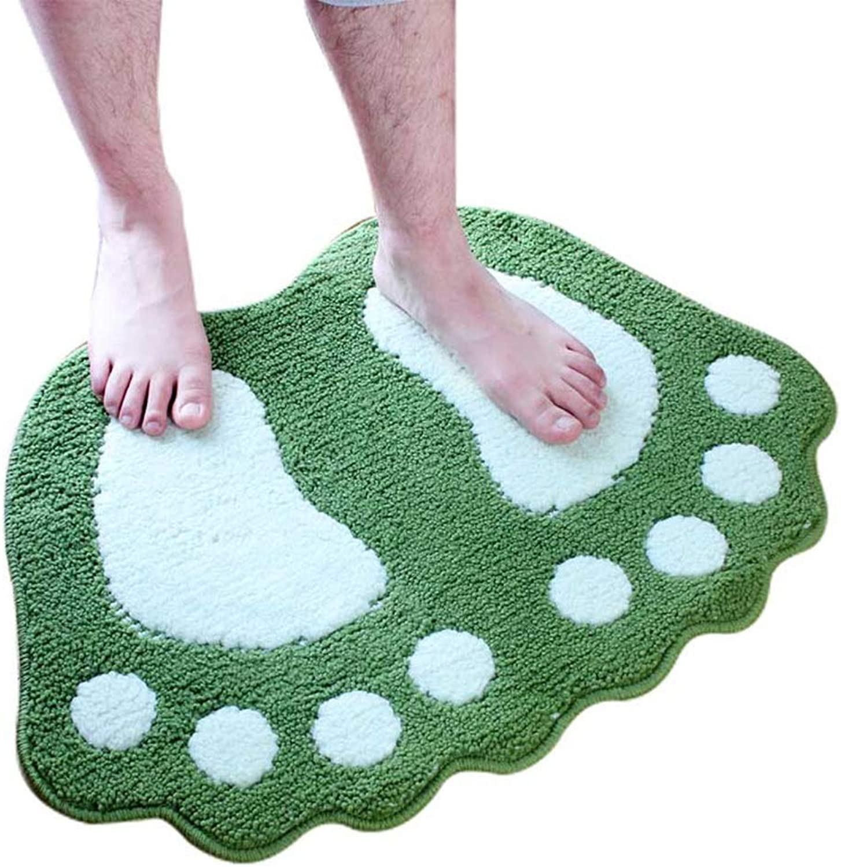 JIAJUAN Doormat Soft Non-Slip Absorbent Home Floor Mat Used for Bathroom Balcony Bedroom, 7 colors, 2 Sizes (color   Green, Size   40X60cm)