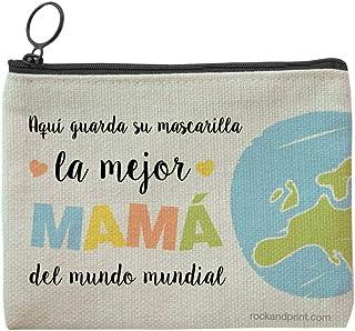 Funda mascarilla regalo MAMÁ personalizada guardamascarilla mejor madre mundo mundial