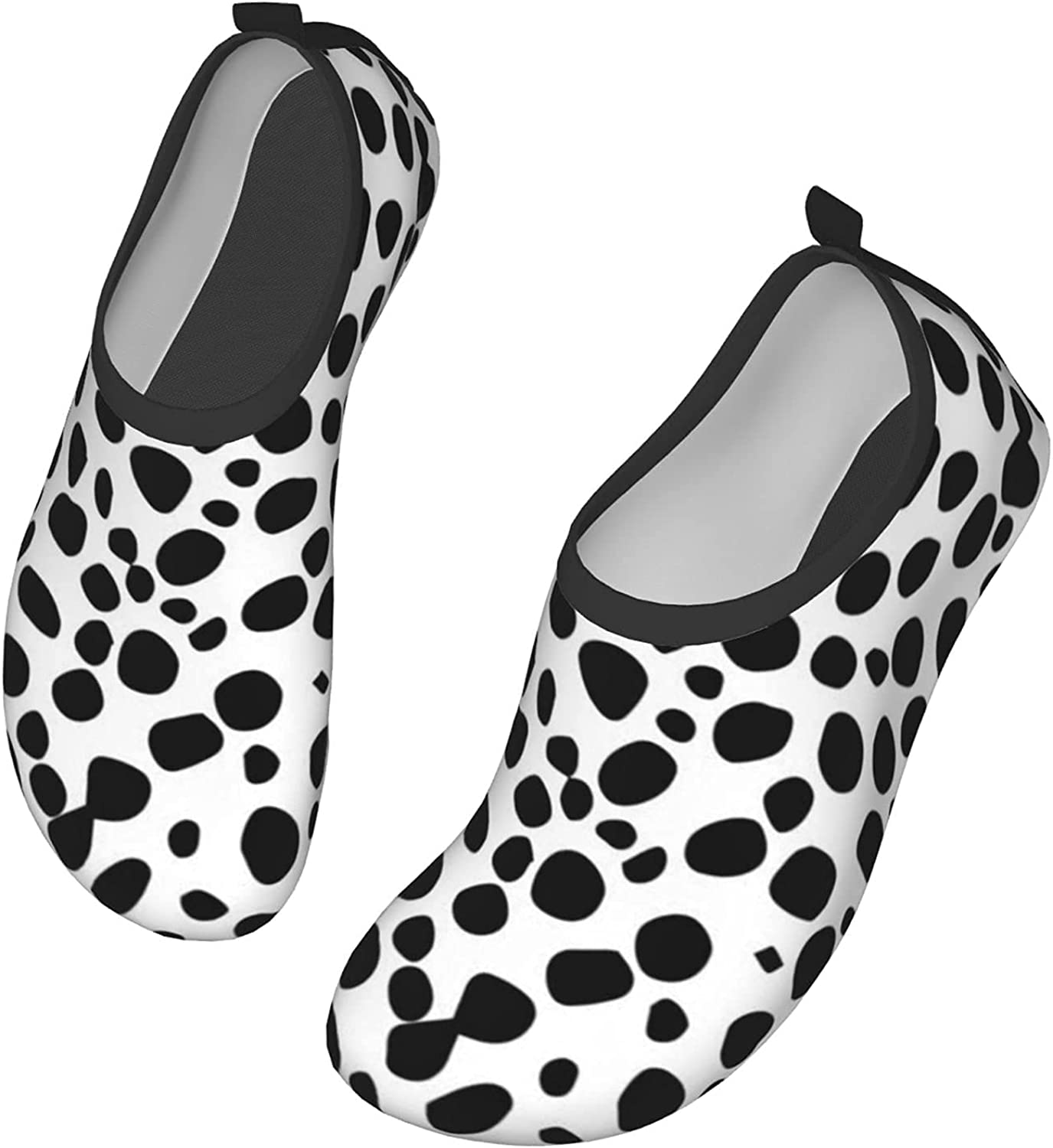 Black and White Background Dalmatian Background Texture Water Shoes Quick-Dry Socks Slip-on Aqua Shoes Women Sandals Barefoot Shoes Yoga Shoes Surfing Yoga Pool Beach Swim Exercise Accessories 38/39