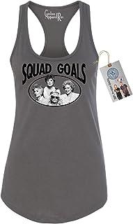 Golden Girls TV Show Squad Goals Womens Racerback Tank Dark Grey XL