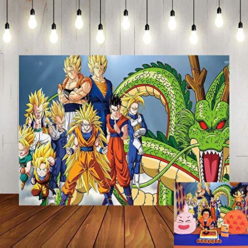 Dragon Ball Z Party Backdrop