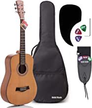 3/4 Size (36 Inch) Acoustic Guitar Bundle Junior/Travel Series by Hola! Music with D'Addario EXP16 Steel Strings, Padded G...