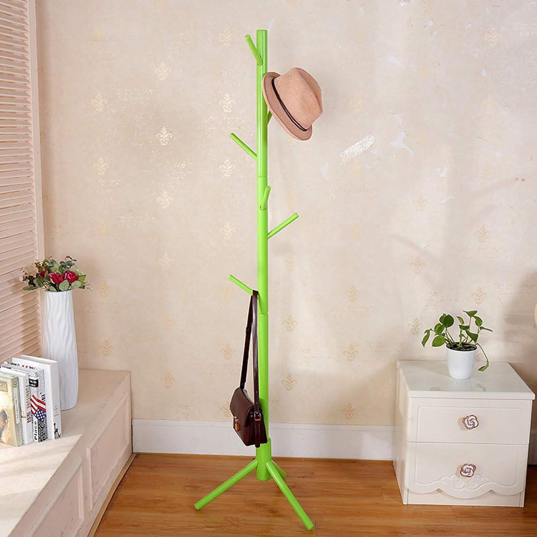 Wood Coat Rack Stand Tree-Shaped Wood Coat Rack Stand Free Standing Wooden Coat Rack for Clothes Scarves and Hats-F 48x48x175cm