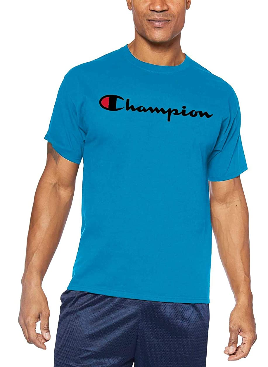 斧分布影響[チャンピオン] メンズ シャツ Champion Men's Big & Tall Script Graphic [並行輸入品]