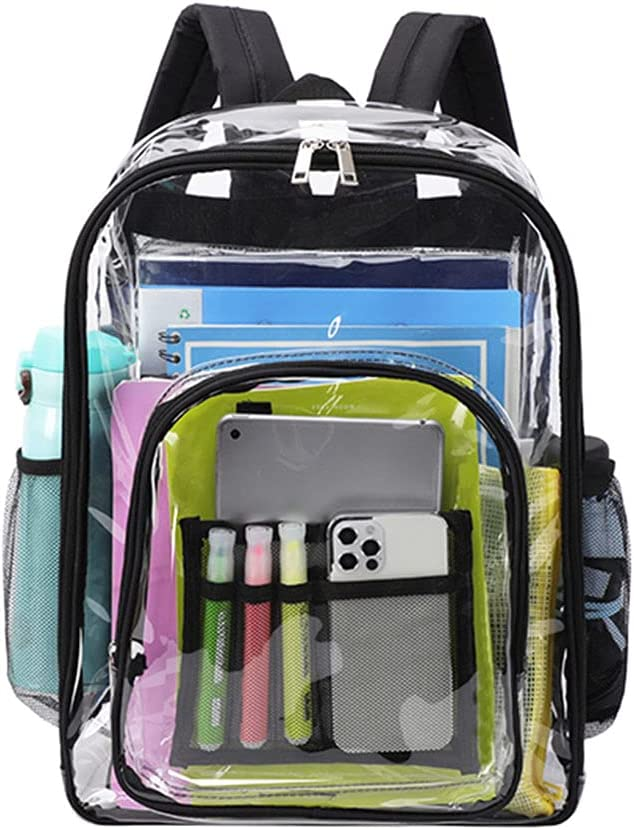 Ruzida Clear Boston Mall School Backpack Large See Trans Through Finally resale start PVC Bookbag