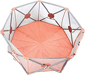 Portable Baby Ball Pit Tent Playpen Toddler Foldable Playards Fence with Ball Breathable Mesh  Safety Gates for Indoors Outdoors Infant Toddler Kids Activity Center