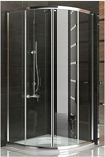 Ducha cabina de ducha de cuadrante ducha madera de 100 x190cm juego de accesorios de puertas de ducha de cristal easyclea