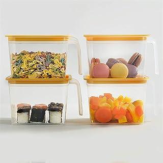 LHY KITCHEN Réfrigérateur Tiroirs Organisateur Plateau Support Boîte De Rangement Cuisine Récipient Transparent avec Poign...