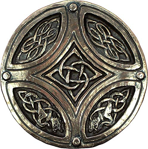 Biddy Murphy Wild Goose Studios Irish Plaque Celtic Knot Circle Cross Bronze Coated Resin Cast Sturdy 5 ?? Diameter Ready to Hang Gift Boxed Irish Gift Made in Ireland
