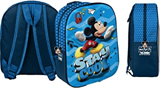 Star  Disney Mickey Mouse & Friends Art. Code- 48550, Mochilas Impresas Fine 3D, Dimensiones: 26,5 x 10 x 31 cm