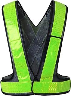 segolike Premium Reflective Security Safety Vest Hi-Vis Outdoor W/Reflective Strips - Black
