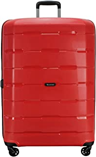QANTAS Brisbane 4 Wheel Trolley Suitcase, Red, 79cm