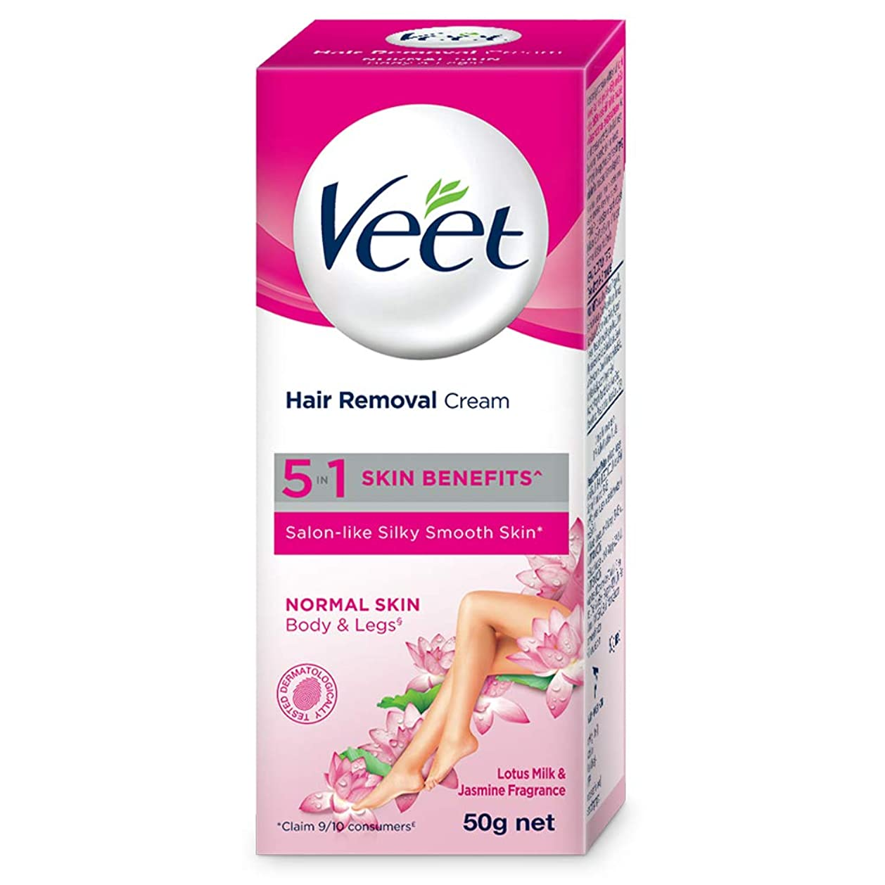 靴下支出楕円形Veet Hair Removal Cream - Normal Skin 50gm