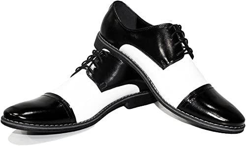 Modello Cañones tre - Cuero Italiaño Hecho A Maño Hombre Piel Color blanco Zapaños Vestir Oxfords - Cuero Cuero Suave - Encaje