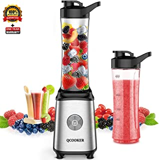 Xiaomi QCOOKER 250W Mix Juicer Blender, Fruit Vegetable Juice Maker Mixer for Smoothie and Shakes, Multi-functional with 2 Tritan BPA-free 20 oz Cups