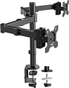 ErGear Dual Monitor Desk Mount Stand, 26.4lbs Heavy-Duty Adjustable Monitor Arms, 17-32