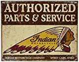 Desperate Enterprises Indian Authorised Parts & Service Blechschild (de)