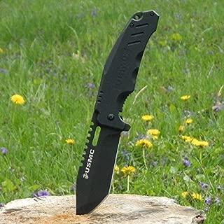 NEW! USMC Elite Tactical Marine Titanium Coated, Black G10 Combat Folding Eco'Gift LIMITED EDITION Knife with Sharp Blade