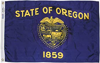 Annin Flagmakers Model 144460 Oregon State Flag 3x5 ft. Nylon SolarGuard Nyl-Glo 100% Made in USA to Official State Design Specifications.