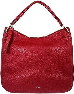 Rialto Ladies Large Dark Red Grain Leather Hobo Bag 977641