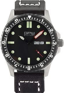 German Military Titanium Watch. GPW Day Date. 200M W/R. Sapphire Crystal.