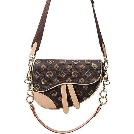 Aiovemc Satteltasche, Schultertasche, breiter Schultergurt, Umhängetasche, Damentasche
