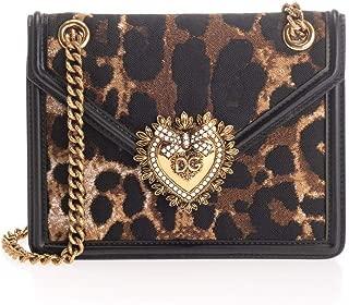Luxury Fashion | Dolce E Gabbana Womens BB6641AJ283HY13M Brown Shoulder Bag | Fall Winter 19