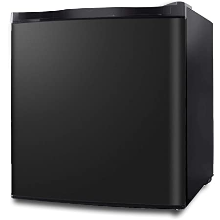Northair Upright Freezer - 1.1 Cu Ft with Removable Shelf - Reversible Door Hinge and Adjustable Feet - Quiet Mini Freezer - Black
