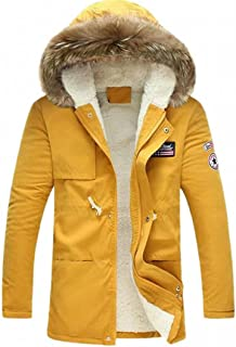 XiaoTianXinMen XTX Mens Jacket Classical Quilted Fleece Cotton-Padded Slim Parkas Coat