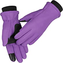 Winter Gloves for Women Touchscreen Anti-slip Soft Warm Fleece Water-resistant Windproof Thermal in Cold Weather for Walki...