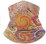shenguang Face Scarf Grunge Swirl Patterns Brush Style Waterpool Waves Nested Colors Boho Marbling Artprint Quickly Dry Breathable Bandana Very Good Ventilation Effect 10 x 11.6 Inch