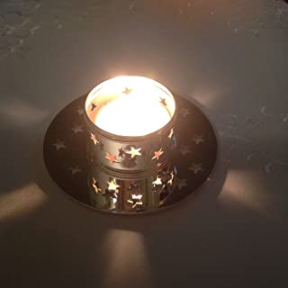 Partylite Christmas - Holiday Glowing Star Candle Holder Gift Set Decoration