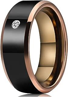 14K Solid White Gold CZ Mens Traditional Wedding Band Ring Ioka
