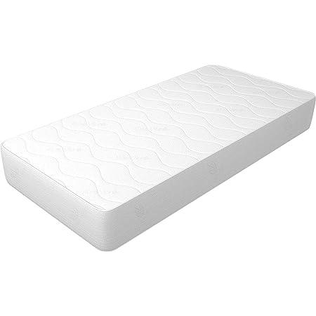 Matelas 90 x 190 cm Hauteur 14 cm WaterFoam Tissu AloeVera Indéformable, hypoallergénique et anti-acariens, rigidité moyenne Modèle : Plus H14