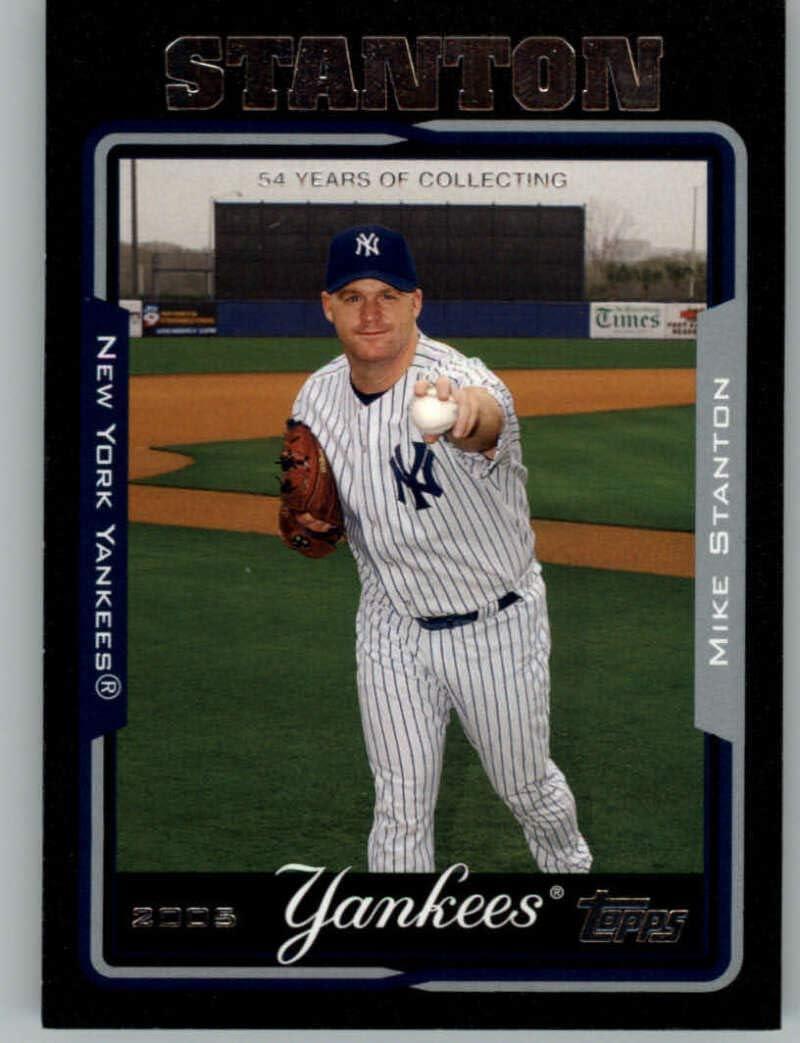 Finally popular Louisville-Jefferson County Mall brand 2005 Topps Black #546 Mike Stanton Yankees New York 54 Ba NM-MT