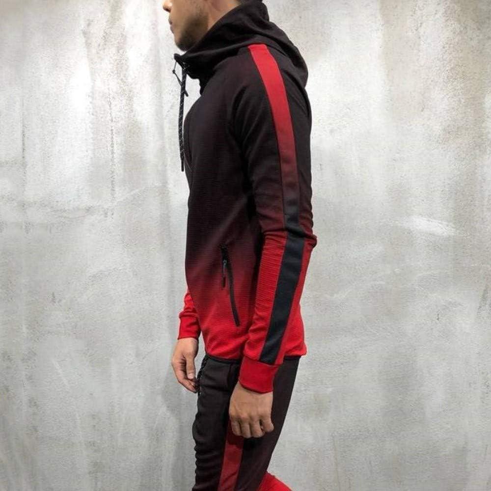 MODOQO Men's Zipper Hoodies Jacket Casual Lightweight Sweatshirt Coat for Autumn Winter