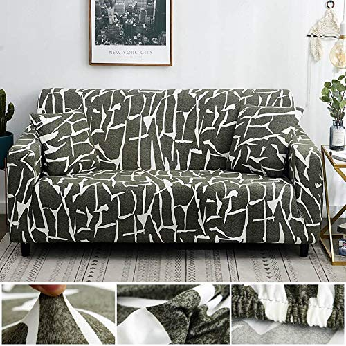 Funda de sofá de línea Irregular Funda de sofá elástica de algodón Fundas de sofá elásticas para Sala de Estar A17 2 plazas