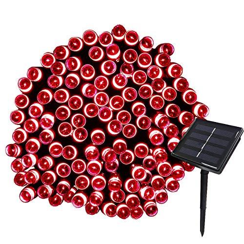 SILOLA Lampes solaires de Jardin en Plein air, guirlandes solaires 12M 100LED étanches 8 Modes guirlandes d'intérieur/d'extérieur Globe pour Jardin, Patio, Cour, Maison, décoration de fête