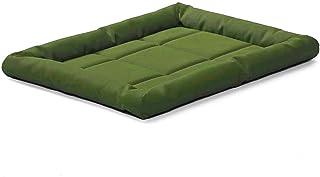 KOZI PET Rectangular Shaped Oxford Fabric Fiber Filled Dog & Cat Beds (Export Quality) (Small, Green)