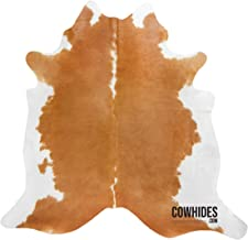 Natural Cowhide Area Rugs Beige and White (Large - 6.5 FT x 7.5 FT)