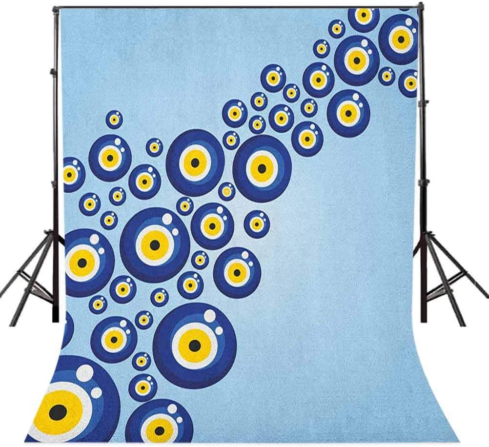 8x12 FT Flower Vinyl Photography Backdrop,A Colorful Field with Poppies Yellow Flowers Lavendar Farmland Hills Scenery Background for Party Home Decor Outdoorsy Theme Shoot Props