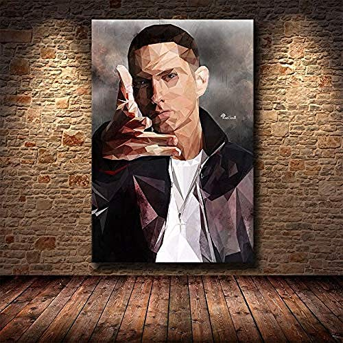 MKAN Canvas Painting Hip Hop Rap Super Rapper Singer Music Posters And Prints Wall Art Abstract Picture Home Decor 40X50C
