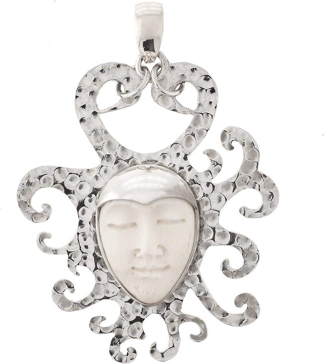 Sun Goddess Bison Bone Hammered 925 2021 spring and summer new Sterling Pendant Silver Popular standard 1 2