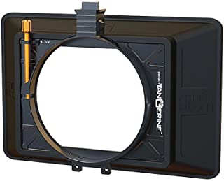 "Bright Tangerine Misfit ATOM 4x5.65"" and 4x4"" Ultra Lightweight 2-Stage Clip-On Matte Box with Detachable Lens Shade, 114mm Clamp Attachment"