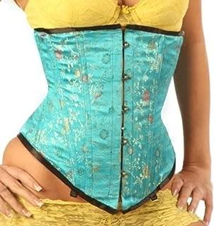 blue silk corset