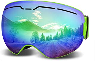 Best green mirrored ski goggles Reviews