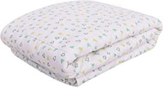 Mom's Home Organic Cotton Baby AC Quilt Blanket- 0-3 Year-110x120 AC Quilt - Blue Heart