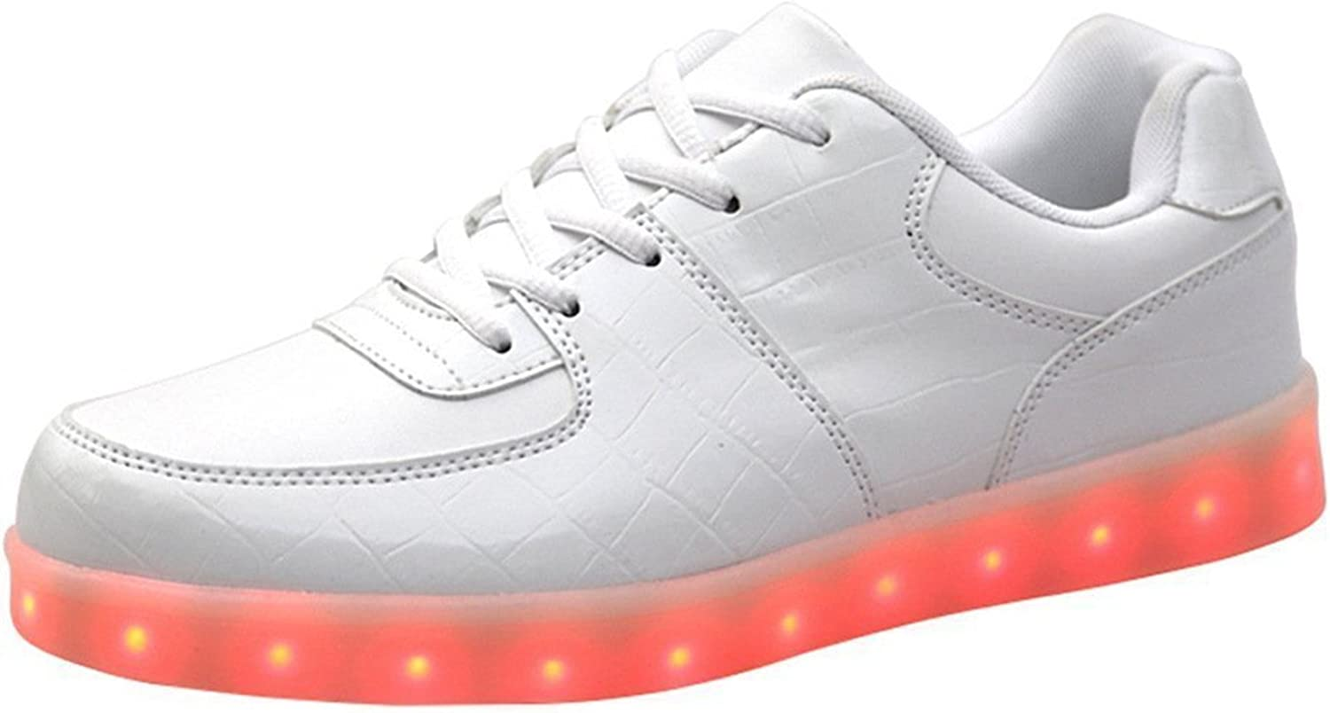 Reinhar Prevailing Women Men USB Charging LED Glow shoes Fashion Flashing Sneakers Comfortable